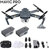 DJI Mavic Pro 4k Quadcopter Aerial Drone 2 Battery Bundle Kit