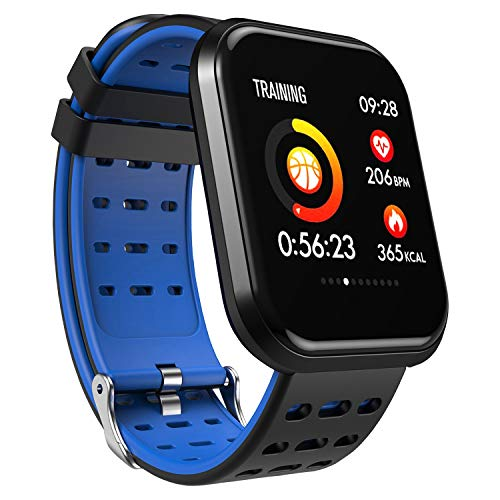 Surpro Smart Watch, Wearable Bluetooth Running GPS Fitness Tracker Watch with Heart Rate Monitor, Waterproof Smart Wristband Pedometer Watch for Kids Woman Man,Blue