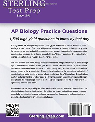 "ap biology essay rubric 2000 Page 1 ap biology: 2013 exam review ap biology exam review guide ""the price of success is hard work, dedication to the job at hand, and the determination that."