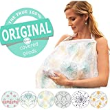 terveテルヴェ ムレない 授乳ケープ 汗っかきの赤ちゃんに優しい 綿100% ガーゼ 生地 ワイヤー入り 収納袋付き(Botanica-g)