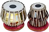 MAHARAJA Golden Tabla Drum Set, 3KG Brass Bayan, Finest Dayan with Book, Hammer, Cushions & Cover (PDI-CH)