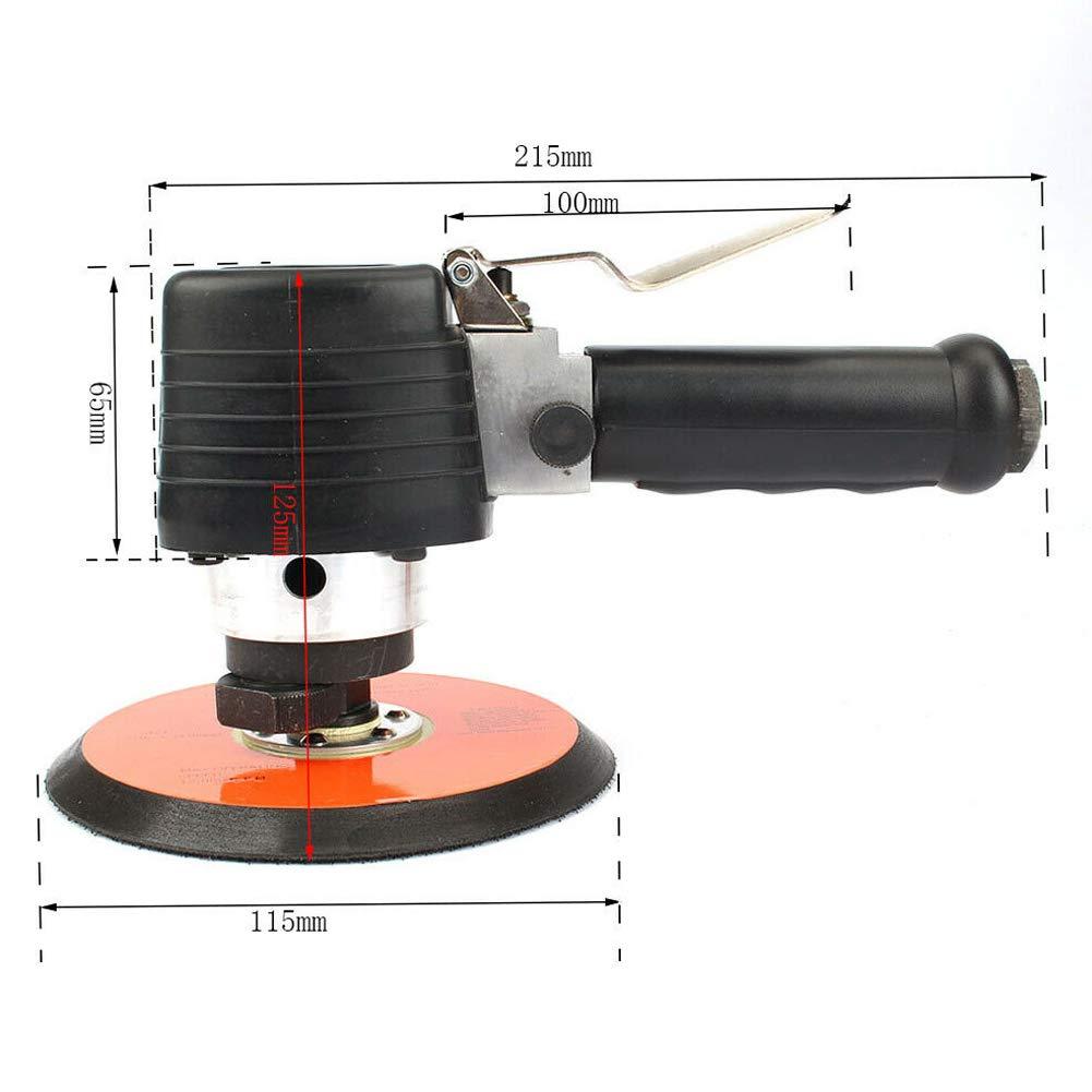 6Ponceuse orbitale /à air al/éatoire Polissage /à main Polisseuse ronde pneumatique 12000RPM