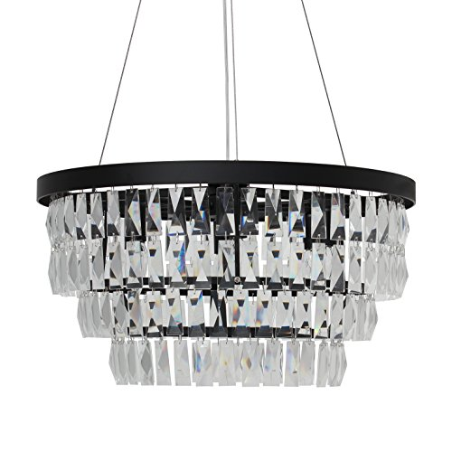 Marquis Foyer Chandelier - Marquis Drum Crystal Chandelier Black