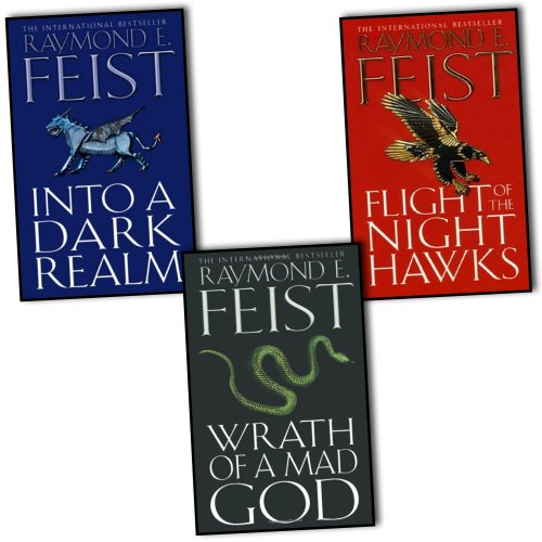 Price comparison product image Raymond E. Feist Darkwar 3 Books Collection Pack Set RRP: £24.97 (Wrath of a Mad God,  Flight of the Night Hawks,  Into a Dark Realm)