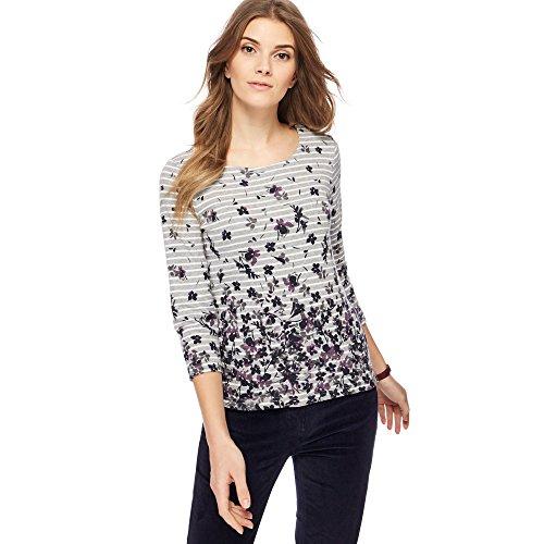 Debenhams Damen T-Shirt Grau grau