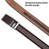 DWTS Men's Genuine Leather Ratchet Dress Belt For