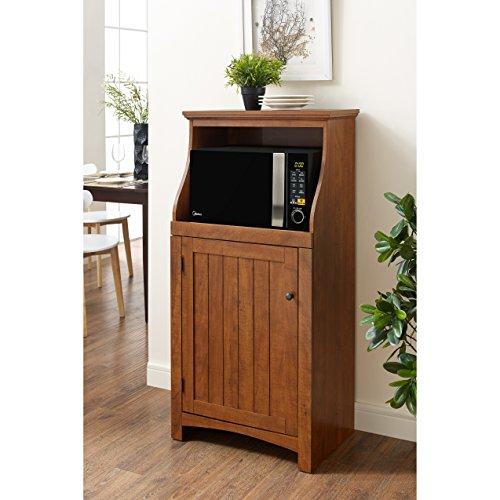 microwave cart cherry wood - 7