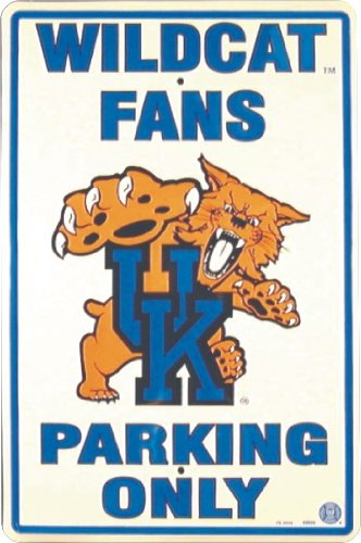 (KENTUCKY WILDCATS Metal Parking Sign 12 x 18 embossed)