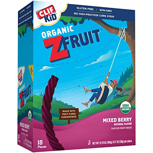 CLIF KID ZFRUIT - Organic Fruit Rope - Mixed Berry Flavor - (0.7 Ounce Rope, 18 Count)