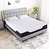 12 Inch Memory Foam and Innerspring Hybrid Mattress, Motion Isolating Individually Coils Pocket Spring Mattress, with 5 inch Edge Support Foam, King
