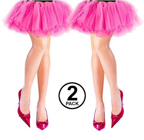 Tigerdoe 80s Costumes for Women - 2 Pack - 80s Accessories - 80s Clothes for Women - Tutus for Women ()