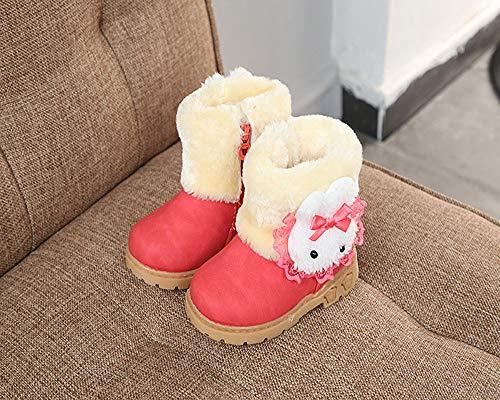 Niña Invierno Piel Rojo Bebé De Sala Zapatillas Zapatos Futbol Latinos Ashop Baile Botines Bebe Profesional qXYpqzx1