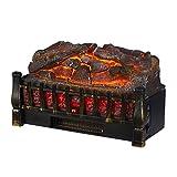 HOMCOM 5200 BTU 750W/1500W Electric Log Set Heater with Realistic Ember Bed - Black