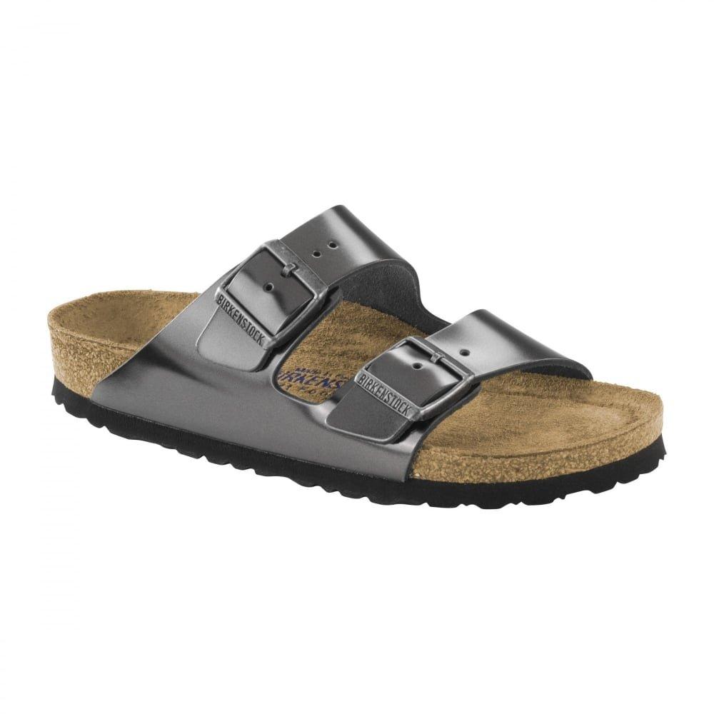 Birkenstock Unisex Arizona Metallic Anthracite Sandals - 11-11.5 B(M) US Women/9-9.5 B(M) US Men