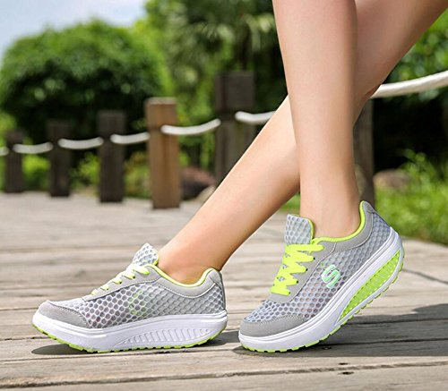 Bottom C Sneakers Breathable 2018 Shoe Thick New Spring Shoes High Summer Shake Walking Tulle Women's Increase Shoes wPq0wag