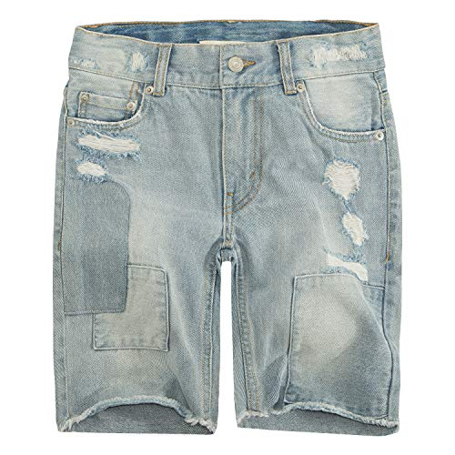 Levi's Big Boys' 511 Slim Fit Denim Shorts, Bleach Out,16 ()