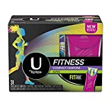 U by Kotex Fitness Tampons with FITPAK, Super Absorbency, Fragrance-Free Tampons, 31 Count