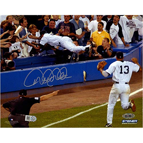 (Derek Jeter Autographed Signed 2004 The Dive 8x10 Photo - Steiner Coa & MLB - Authentic Memorabilia)