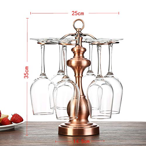 cup holder decoration hanging cup shelf display rack high glass rack wine, pagoda bronze ()