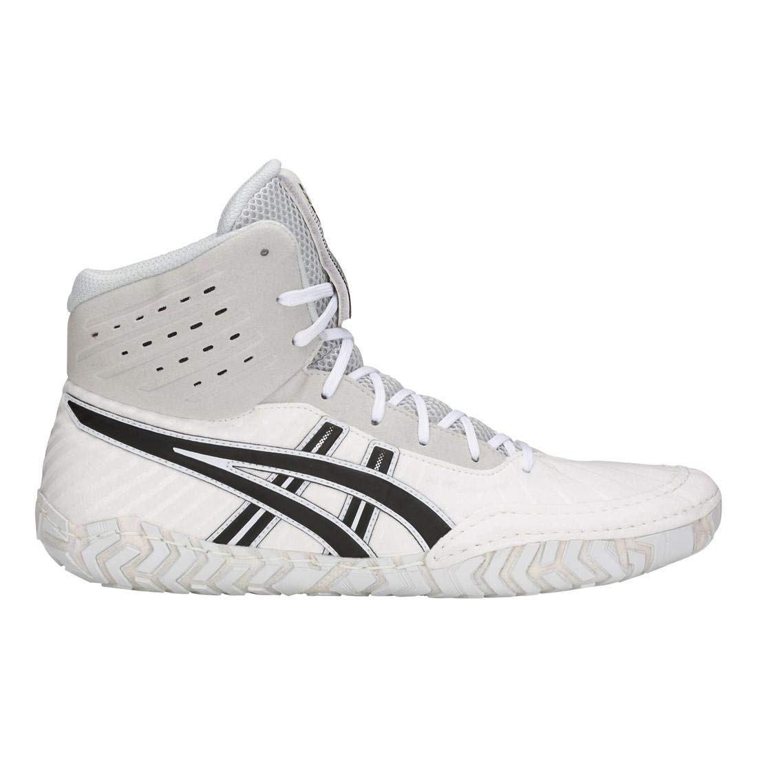 (13 D(M) US, White/Black) - ASICS Aggressor 4 Men's Wrestling Shoes   B07814LQR1