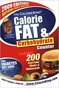 The Calorieking Calorie Fat Amp Carbohydrate Counter 2009