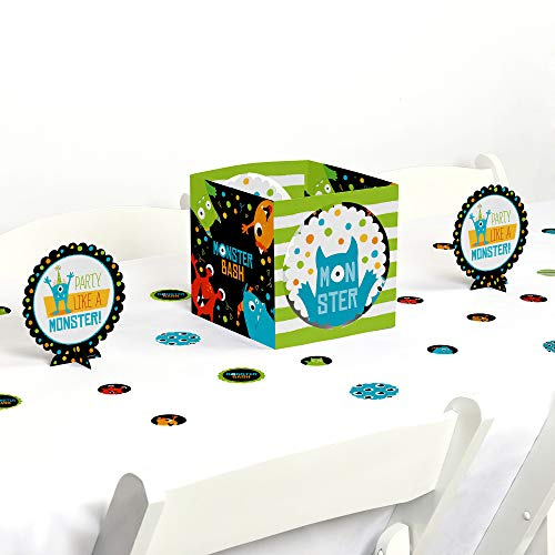 Big Dot of Happiness Monster Bash - Little Monster Birthday Party or Baby Shower Centerpiece & Table Decoration Kit