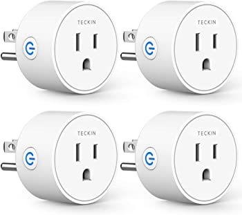 4-Pack Teckin Mini Smart Plug Wifi Socket with Timer Function