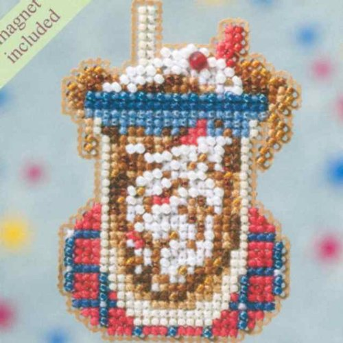 Root Beer Float Beaded Counted Cross Stitch Ornament Kit Mill Hill 2009 Spring Bouquet MH18-9101