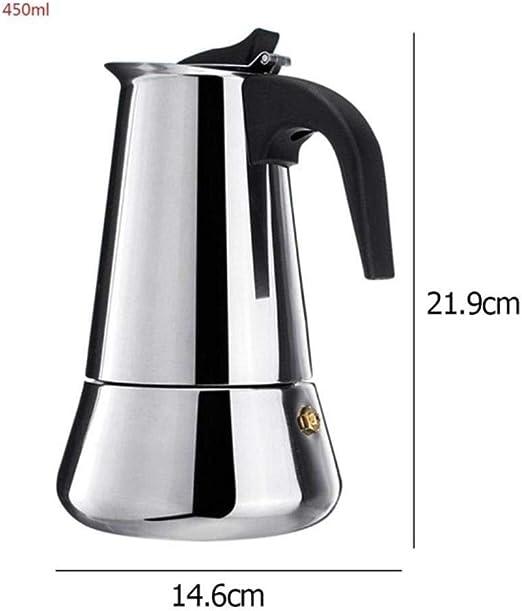 LinZX Portátil máquina eléctrica de Metal Moka café Cafeteira ...