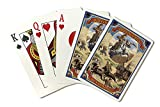 Wyoming - Buffalo Bill and Wagon Scene (Playing Card Deck - 52 Card Poker Size with Jokers)