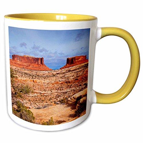 3dRose Danita Delimont - Rock Formations - Monitor, Merrimack rock formations, Utah, USA - US45 BJN0017 - Brian Jannsen - 11oz Two-Tone Yellow Mug - Merrimack The Outlets