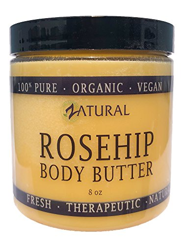 Organic Seed ROSEHIP BUTTER w/Virgin Shea (8 oz)- Pure Vitamin C for the Face, Hair & Body | Soothe, Heal | Safe for all ages (8 oz)