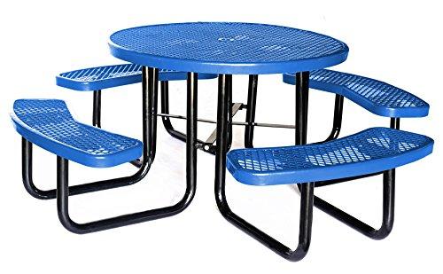 Lifeyard 46 확장 된 라운드 메탈 메쉬 상용 블루 피크닉 테이블 ..