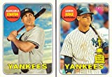 #9: Giancarlo Stanton and Aaron Judge 2018 Topps Heritage New York Yankees Lot of 2 Baseball Cards