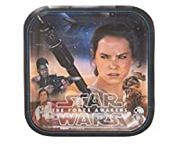 "New Star Wars Episode VII Assorted Square Birthday Party Dessert Paper Plates Disposable Tableware (8 Pack), Multi Color, 7""."