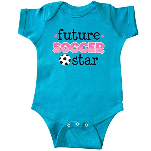 inktastic - Future Soccer Star Girls Infant Creeper 12 Months Turquoise ed8c