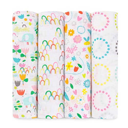 Aden + Anais Swaddle 4 pack - Fairground