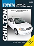 Toyota Corolla, 2003-13: Does not include information specific to XRS models (Chilton Automotive)