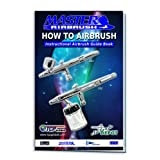 Master Airbrush Cake Decorating Airbrushing System - Precision Dual-Action Gravity Feed Airbrush Set with a Elephant Shaped Compressor and 4-Chefmaster Airbrush Food Colors