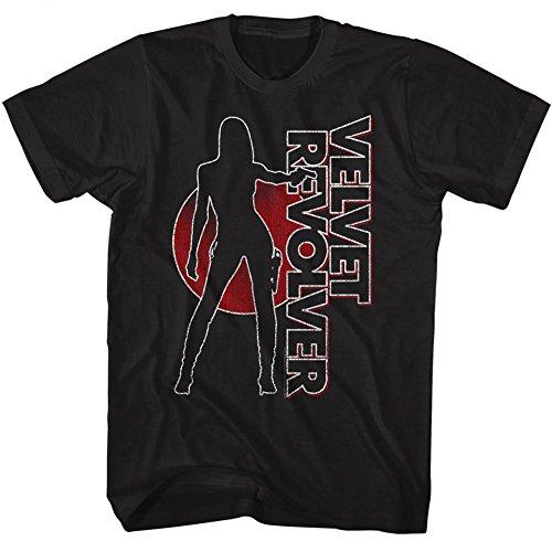 A&E Designs Velvet Revolver T-Shirt Contraband Album Cover Black Tee, 2XL (Revolver Design)