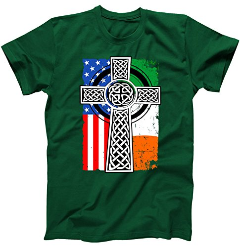 Irish American United States Flag Celtic Cross Faith St. Patrick