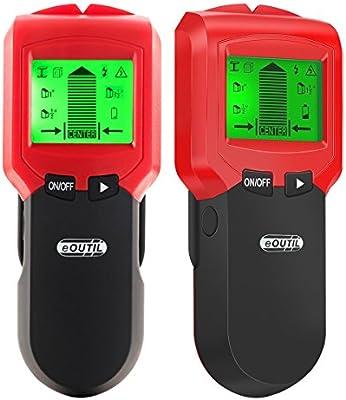 INKERSCOOP - Detector de pared de metal, buscador de pernos, escáner de precisión multifuncional para pared con sonido de advertencia para cable de CA en ...