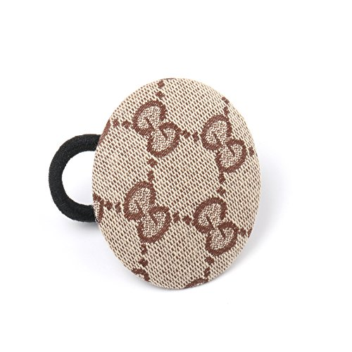 Girliber handmade headband and Hair elastic, hair accessories, Brown Webbed (Circular Elastic)