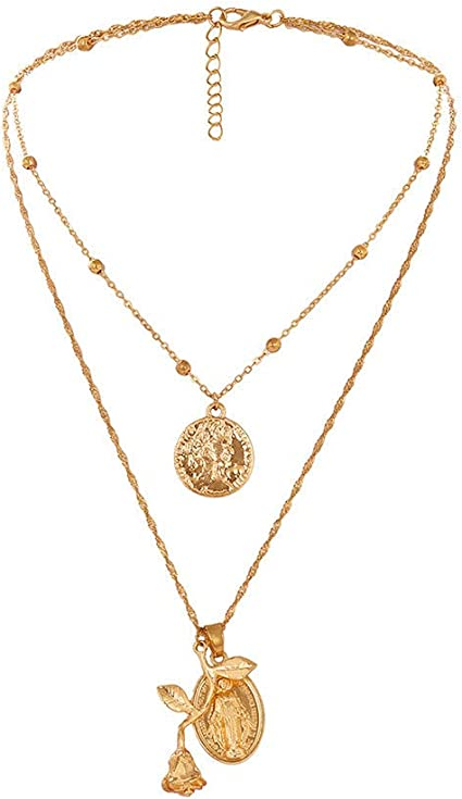 Women Fashion Round Crystal Necklace Pendant Chain Choker Jewelry Gift Decor 1Pc