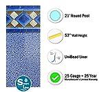 Smartline Mosaic Diamond 21-Foot Round Pool Liner