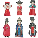Papel plegable coreano tradicional Hanbok / Dae Jang-Geum