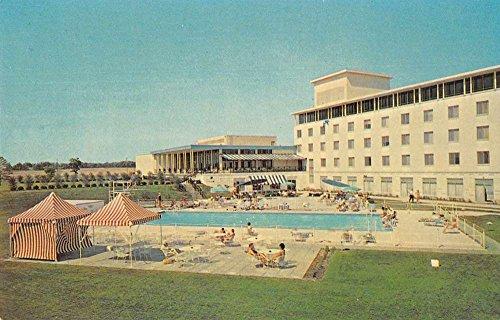Oak Brook Illinois swimming pool bathers The Drake OakBrook vintage pc - Illinois Oak Brook