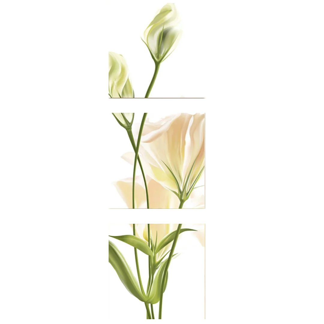 アートパネル 壁掛け画 壁掛け絵画 Lily(百合) ヒーリングインテリア 風景写真パネル 鮮やかなコントラスト ルノワール 抽象画 細工 花柄 和柄 風景画 絵画 壁掛け お洒落な 3連 B01KNFKBSW 40*40cm 40*40cm
