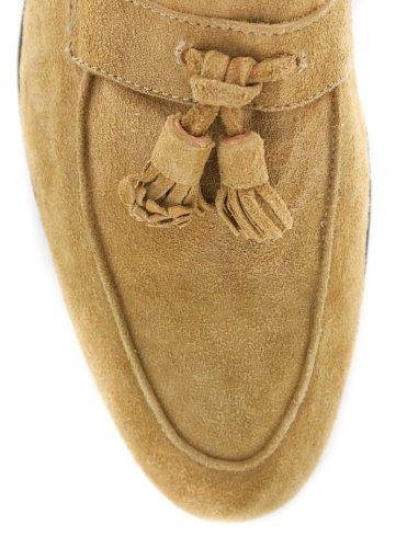 Nouveau Sutor Mantellassi Chaussures En Daim Beige 11.5 / 10.5