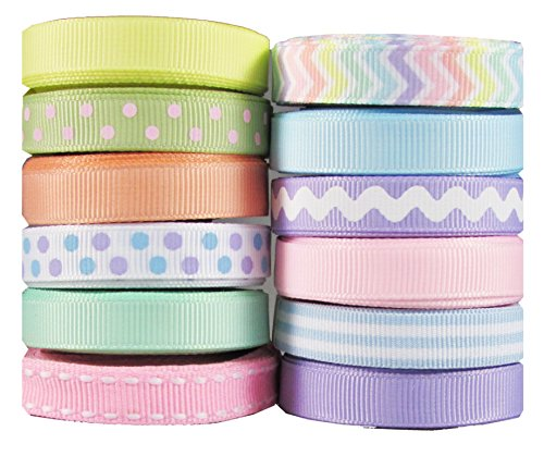 HipGirl Holidays Ribbon--Spring, Easter, St Patrick's Day Ribbon Collection--(60 Yards 3/8